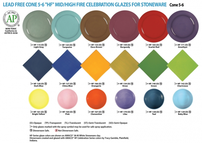 Celebration Glazes are a beautiful group of bright pastel colors that are  colorful on all different types of clay bodies. Celebrity  Bold Colors Of Celebration Glazes For Your Stoneware